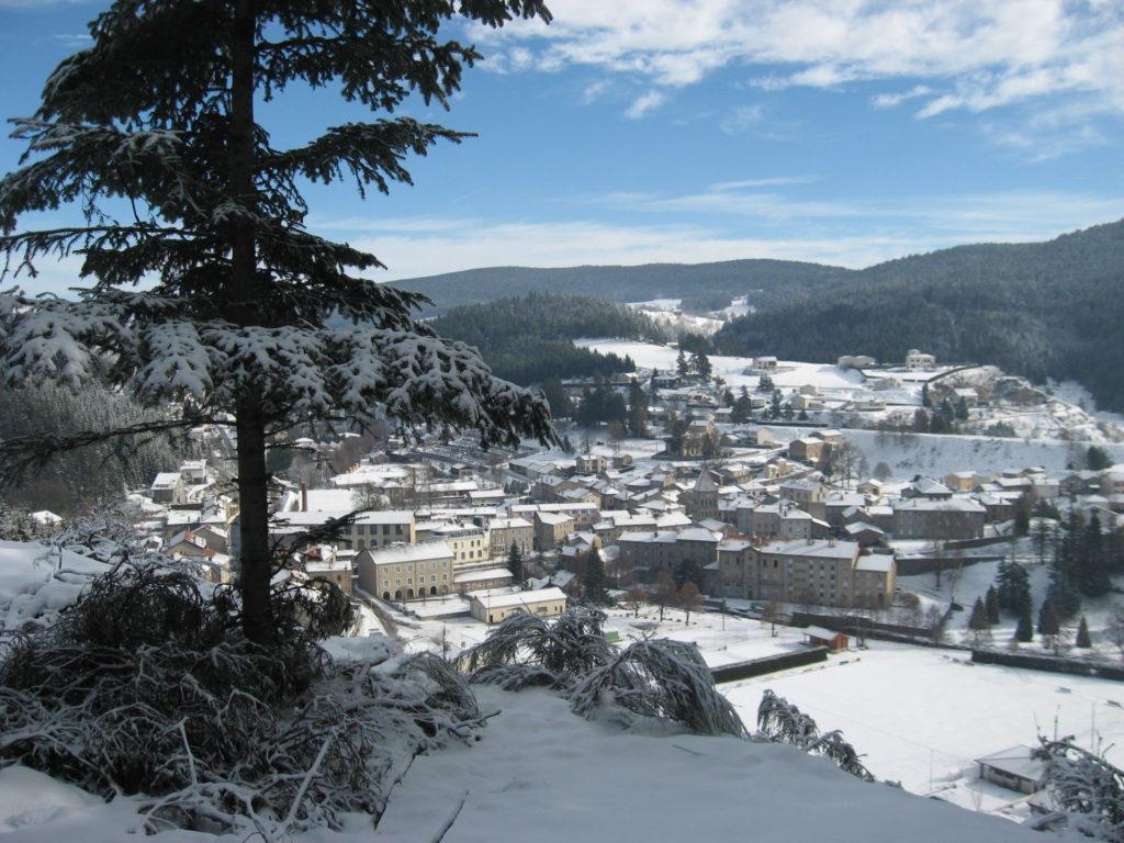 panoramma riotord sous la neige